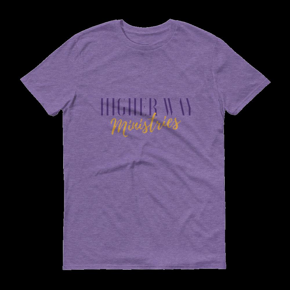 Image of Higher Way Ministries (HWM) Tee Heather Purple