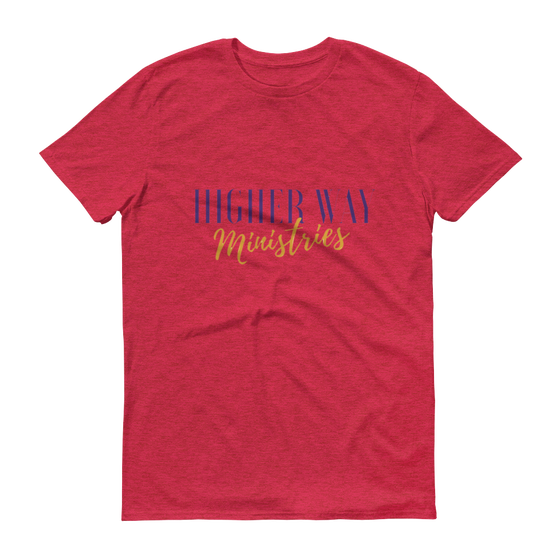 Image of Higher Way Ministries (HWM) Tee Heather Red
