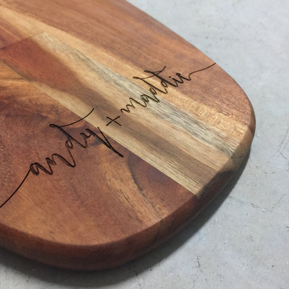 Image of Custom wooden serving board - back in stock