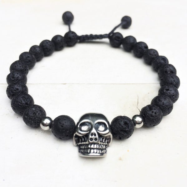 Image of Only for Men Armband Skull Black Lava