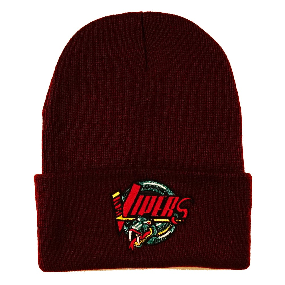 Image of Detroit Vipers Maroon Classic Logo Beanie