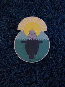 Image of 5 Pack of Kimya Dawson Manatee Stickers (designed by Aesop Rock)