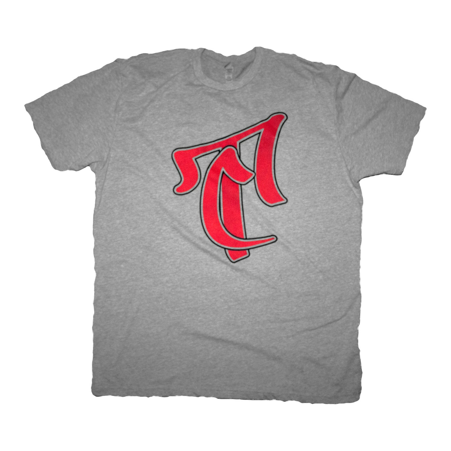 Image of The TC Logo Tee in Gray/Red
