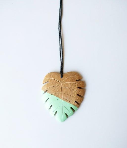 Image of Hello Monstera! Necklace - Juniper
