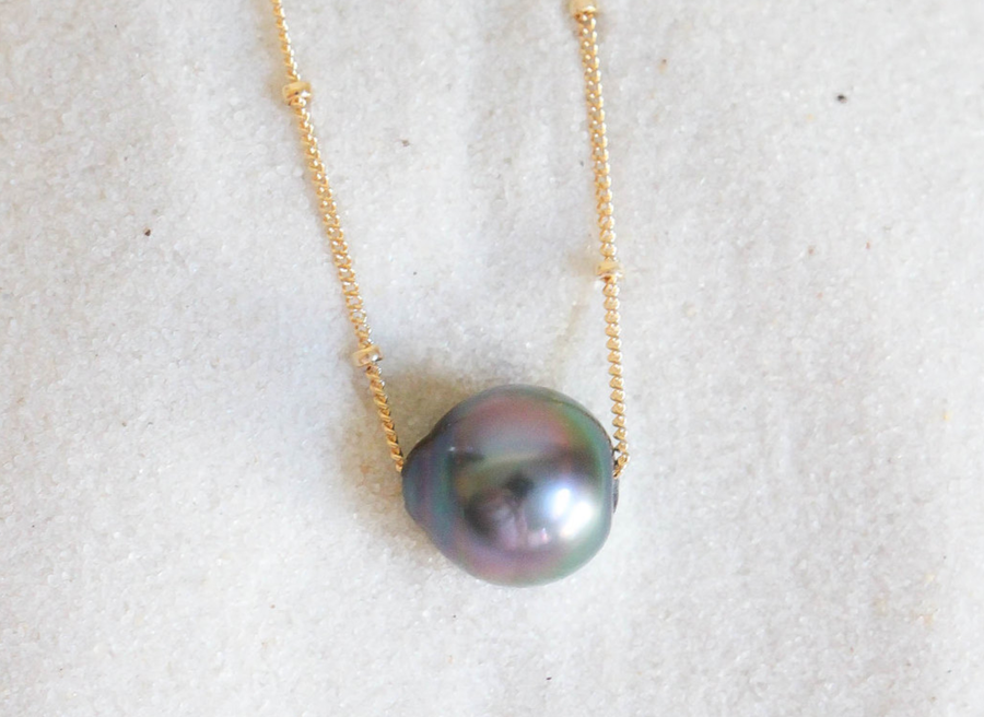 Image of Tahitian Pearl 14k Necklace