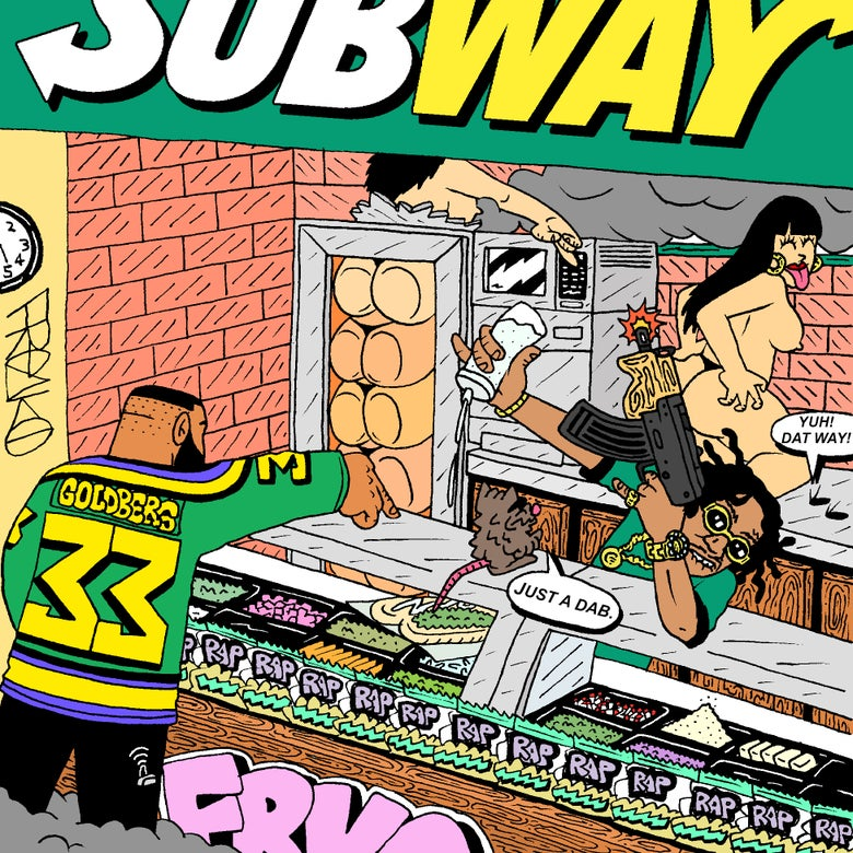 "Image of ""TRAP OUT OF SUBWAY"" PRINT"