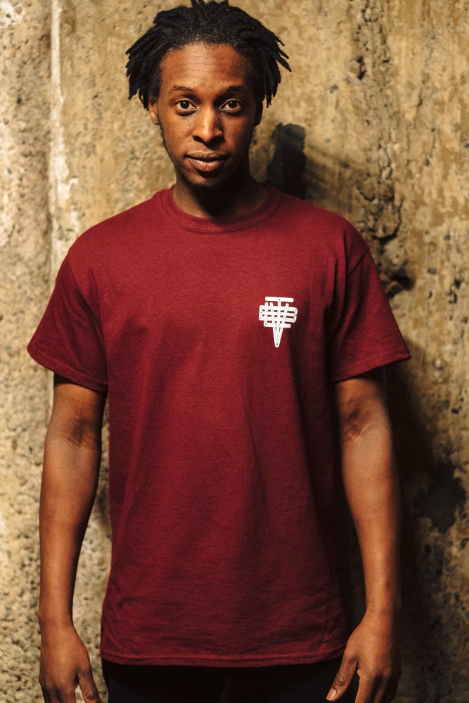 Image of Beatville T-shirt (Burgundy) 2017