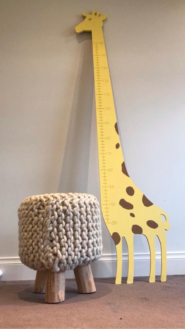 Giraffe growth chart little wood haus giraffe growth chart nvjuhfo Choice Image