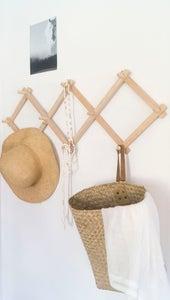 Image of Oak Wooden Expandable Coat Rack