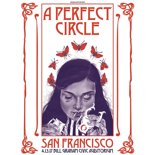 """Image of """"The Devil Has My Ear Today""""- A Perfect Circle AP Screenprinted Poster"""