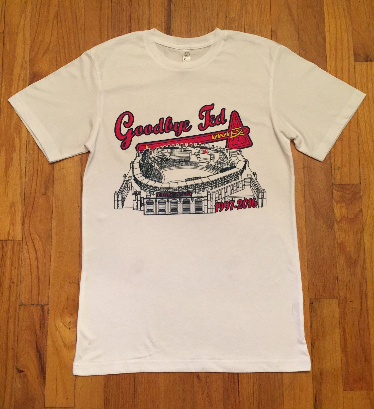 """Image of Limited Edition Turner Field T-Shirt - """"Goodbye Ted"""" (NEW)"""