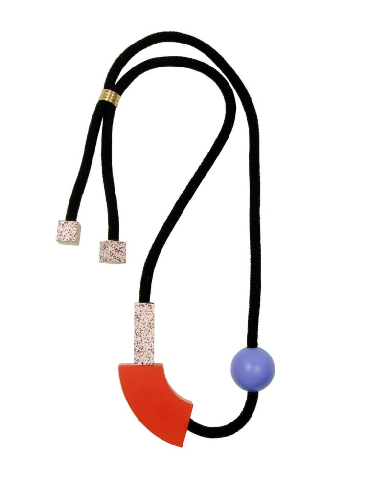 Image of PLAY Necklace ▴ Red Curve