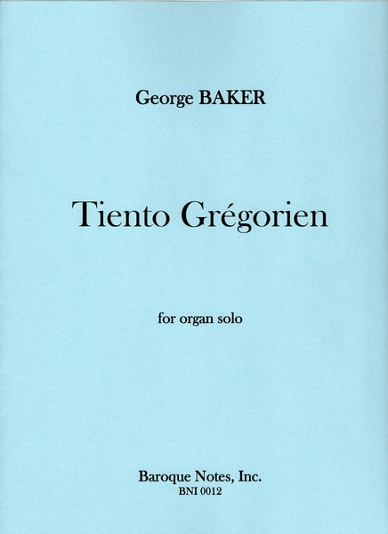 Image of Tiento Grégorien