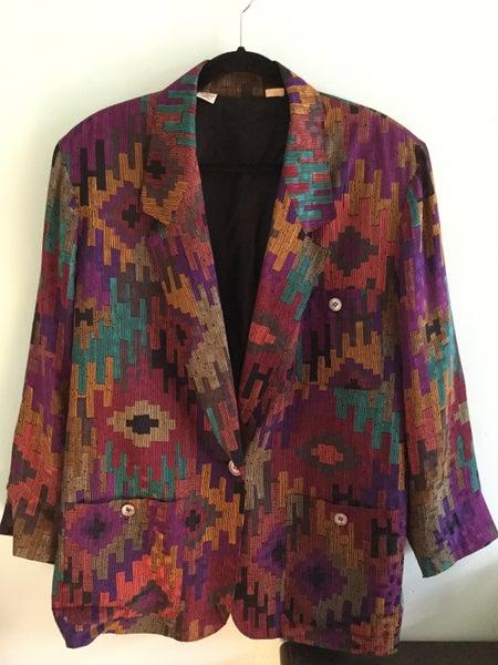 Image of aztec print silk jacket