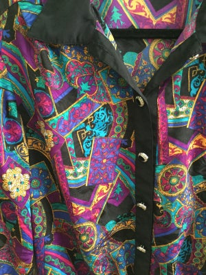 Image of paisley on paisley button down