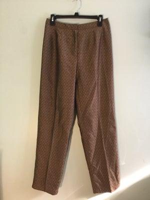 Image of silk gold/black pattern dress pant