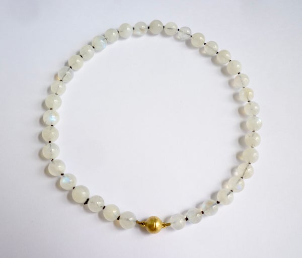 Image of rainbow moonstone necklace