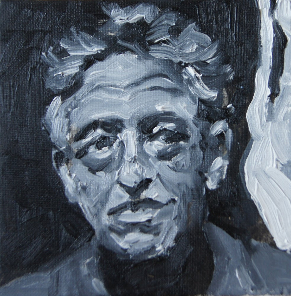 Image of Study of Giacometti in black and white.
