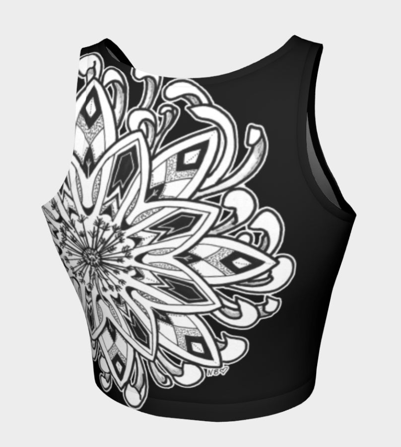 Image of Mandala Lotus Fitness Crop Top