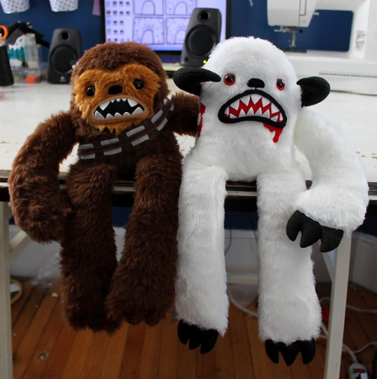 Image of Chewbacca and Wampa