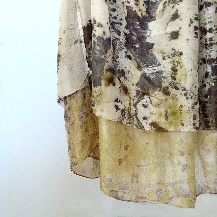 Image of double layer reversable silk dress