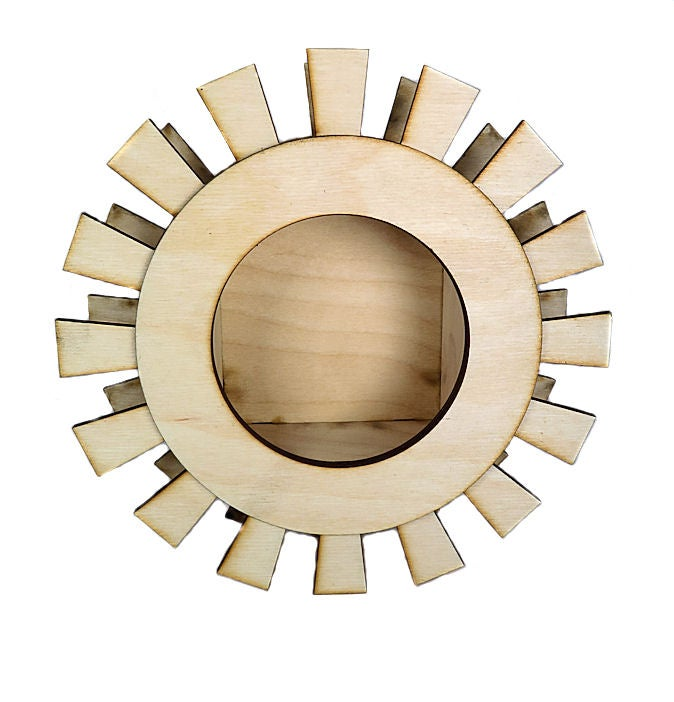 Image of Wood Shrine Kit- Frida's Aztec Sun