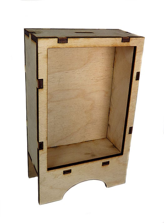 Image of Wood Shrines- ATC Size-Shaker Leg Shrine