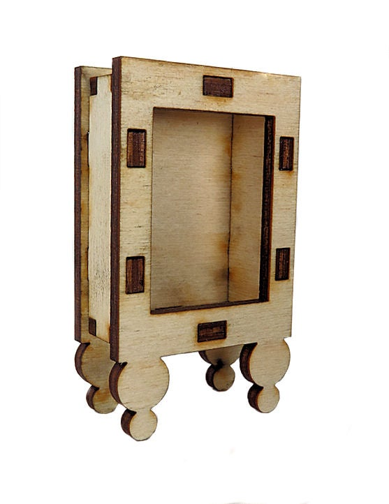 Image of Wood Shrines-Tiny Shrines- Ball Leg Shrine