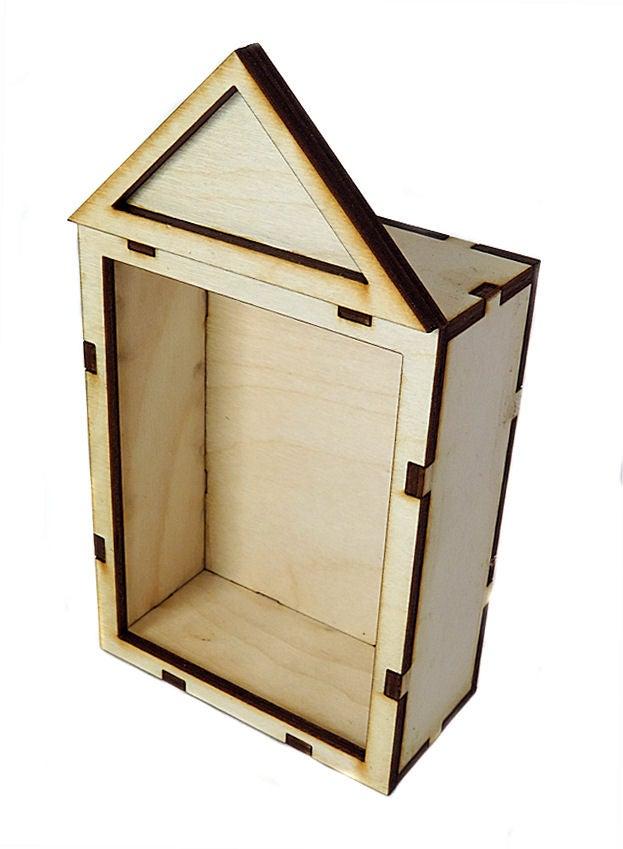 Image of Wood Shrines- ATC Size-The Pediment Shrine