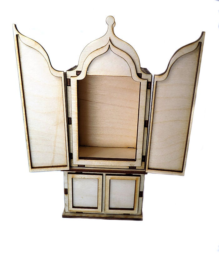 Image of Wooden Shrines- Large- The Triptych