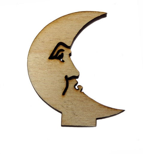 Image of Wooden Icon- Small Man in the Moon