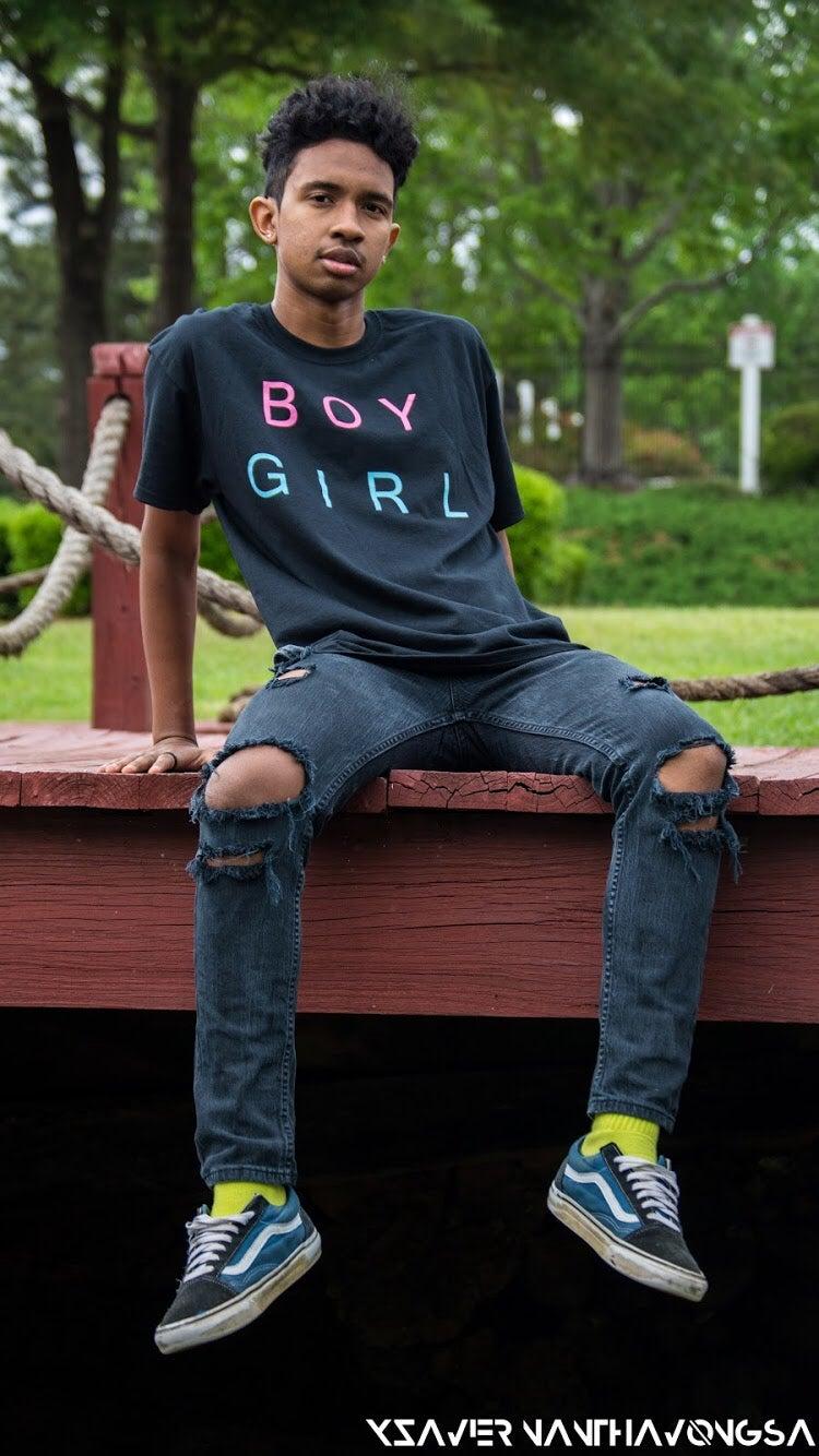Image of BG BOYGIRL BLACK TEE