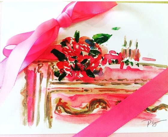 Image of French dresser notecards