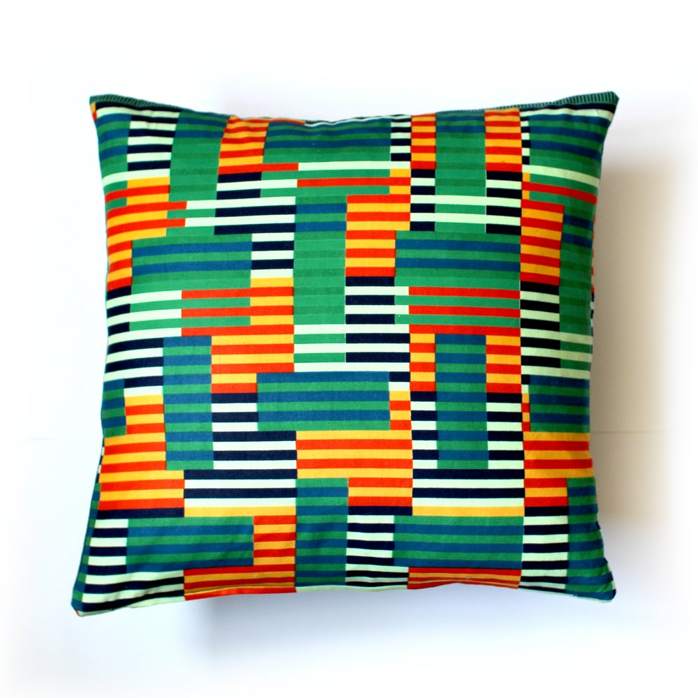 Image of Block colour cotton cushion covers