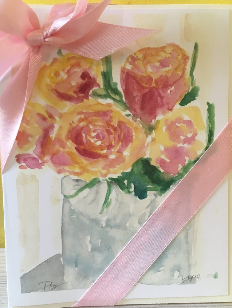 Image of Rose Watercolor Note cards