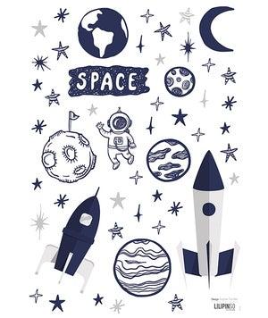 Image of Vinilo cohete en el espacio