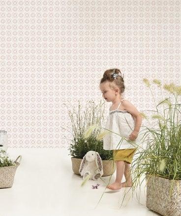 Image of Papel pintado flores geométricas