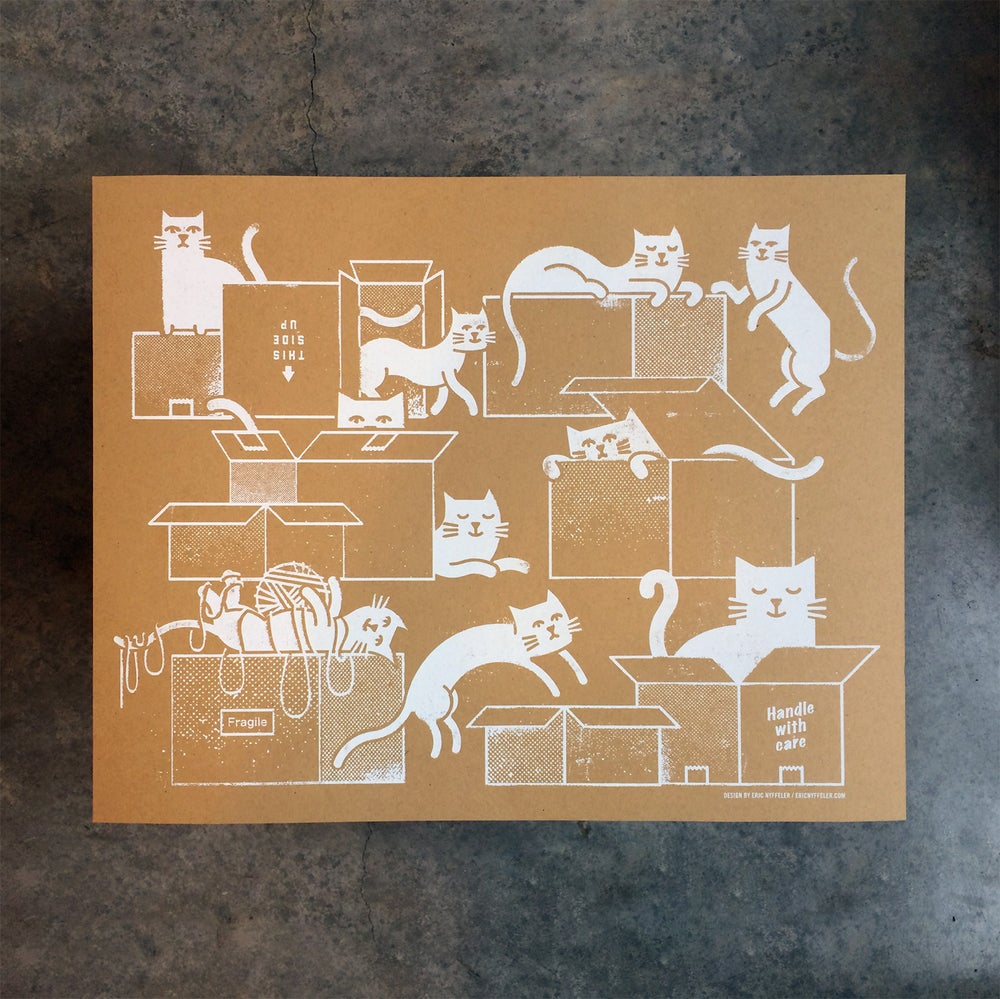 Image of Box Cats art print