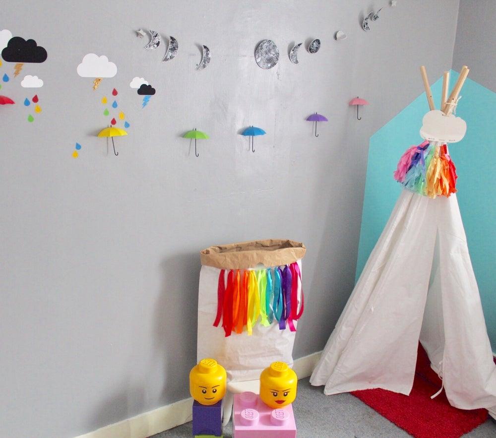 Image of Rainbow umbrella hooks