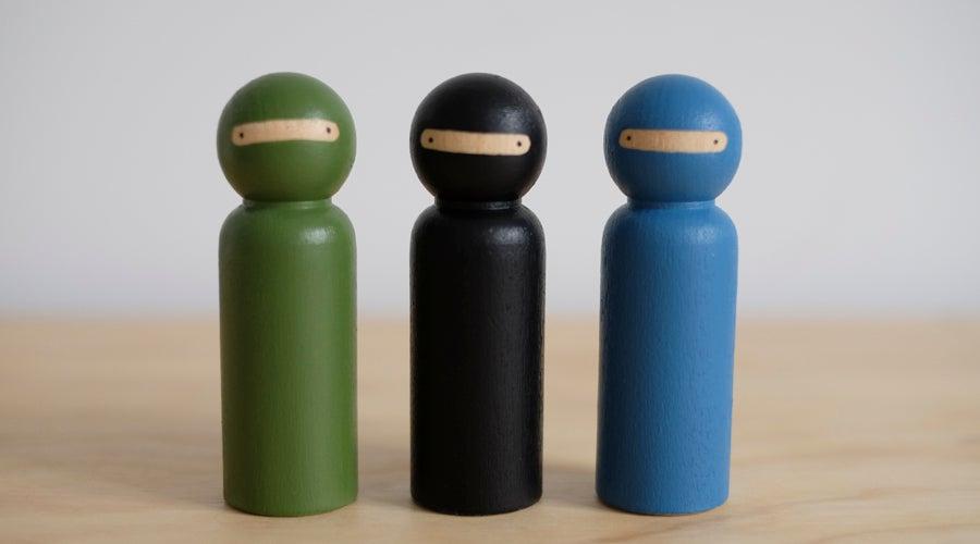 Image of Ninja Peg Doll set