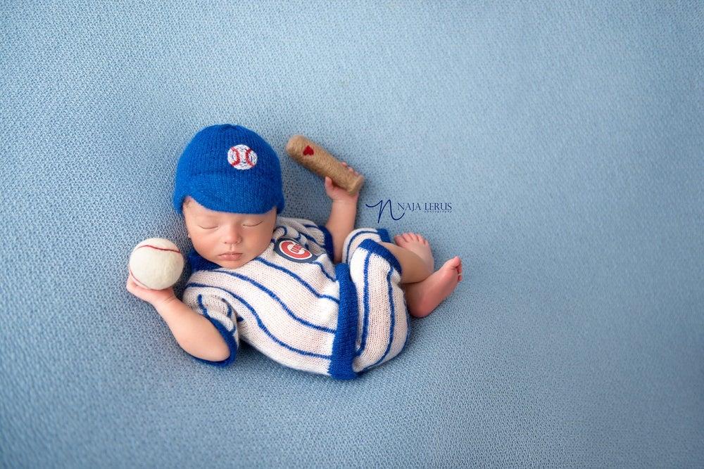 Image of Little Pin Striped Baseball Uniform