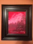 Image of CRIMSON LAKE 11X14 OIL ON CANVAS LANDSCAPE