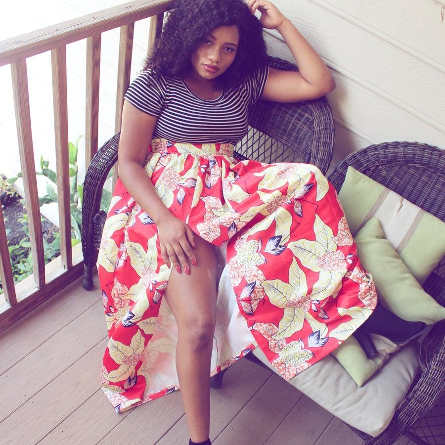 Image of Floral Love Slit Maxi Skirt