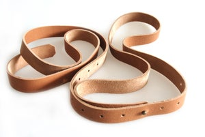 Image of Womens Fashion Belt with Silver Tone Stud, Full Grain Leather Belt, Vegtan Leather Strap