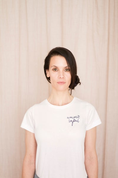 Image of Amour infini t-shirt embroidered