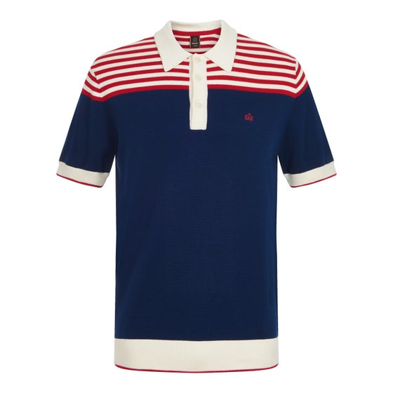 Image of Merc London CRAVEN STRIPE KNIT POLO