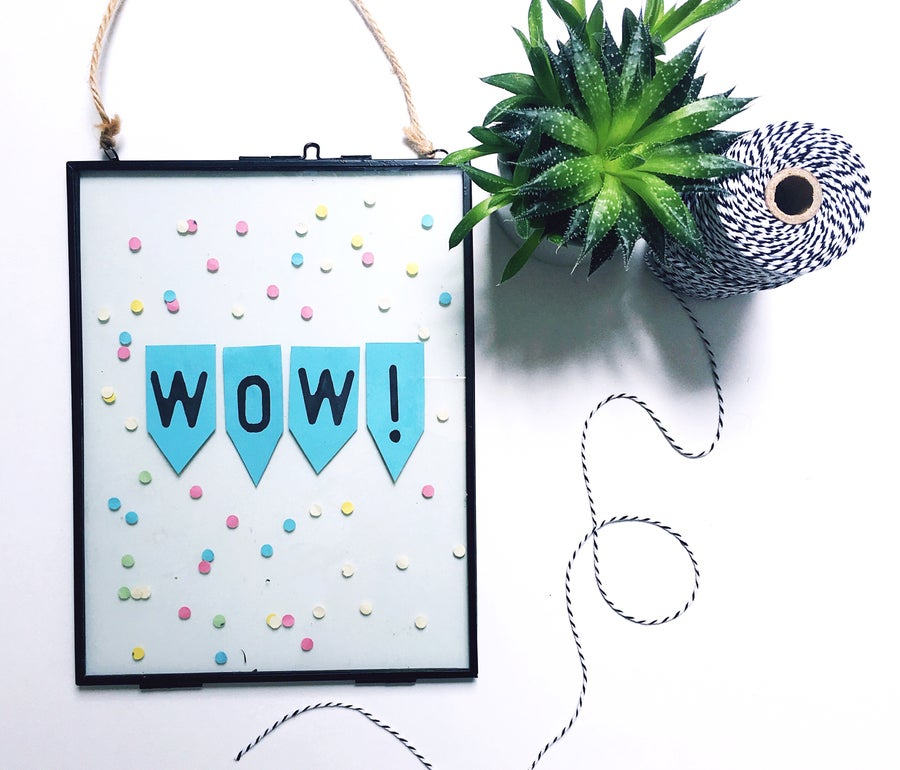 Image of Wow! Vintage Hanging Frame