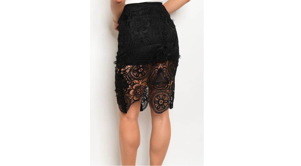 Image of Crochet Pencil Skirt