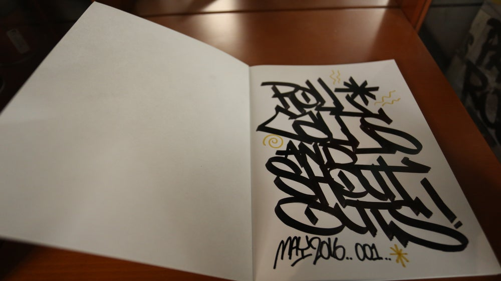 "Image of 1 of 1 Original Hand Drawn Book ""Roll Calls & Shout Outs"" By SKEM"