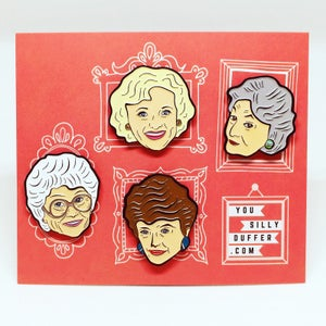 Image of Sophia and Speech Bubble Quote, Golden Girls, Enamel Pin